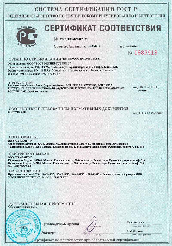Сертификат растворы цементные марка 150 балт бетон